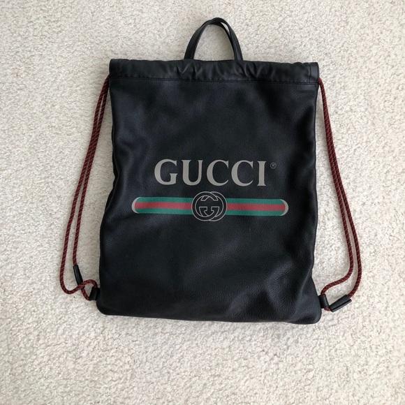 de6e3da41df Gucci Handbags - Authentic Gucci Drawstring Bag (Backpack   Tote)
